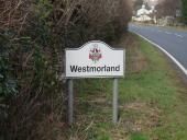 New Westmorland sign on the A6070.