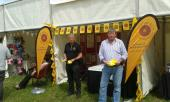 Royal Lancashire Show - Paul and Bill at our stand