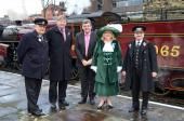 The High Sheriff Sharman Birtles, with Steve Holt, Bill Lloyd, Mr Birtles &  Kieth Howarth