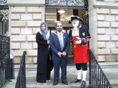 Blackburn's Deputy Mayor and Mayoress Hussain Akhtar with Ronald Hailwood Town Crier 2015