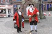 Don Evans Town Crier with Nikki Hennessy Mayor West Lancashire