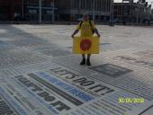 Lancashire Boundary Walk - Philip at start in Blackpool