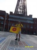 Lancashire Boundary Walk - Philip at start in Blackpool - 2