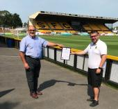 Southport Football Club - Lancashire Certificate - Philip Walsh (Chairman) & James Tedford (Southport F.C.