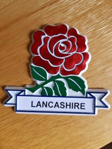 New Red Rose Lancashire Fridge Magnet