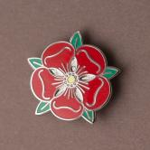 Red Rose Lapel Badge 1/2
