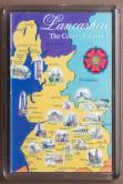 Map of County Palatine of Lancashire Fridge Magnet