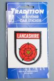 Lancashire Red Rose Car Sticker